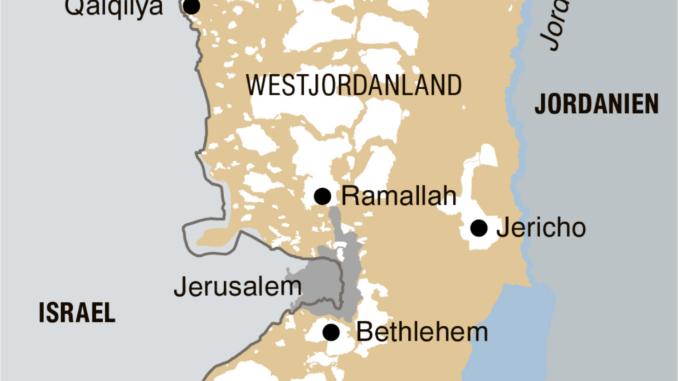 Die Aufteilung des Westjordanlandes